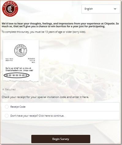Chipotlefeedback.Com Homepage
