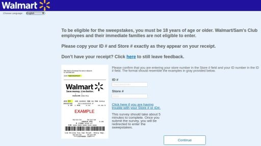Www.Survey.Walmart.Com Homepage