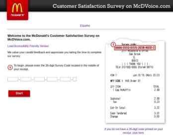 Www.McDVoice.Com Homepage