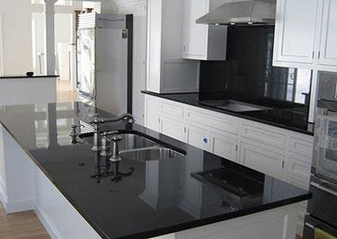Absolute Black Granite on Black Granite Countertops  id=37866