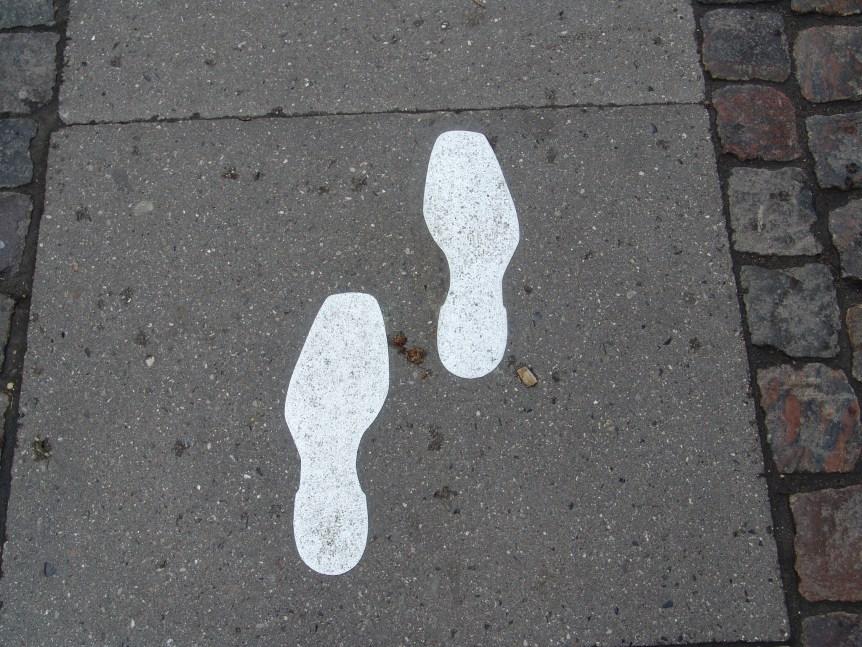 footsteps following jesus