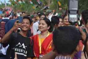 Delegasi dari Negara India di Sambut warga Kecamatan Bulo