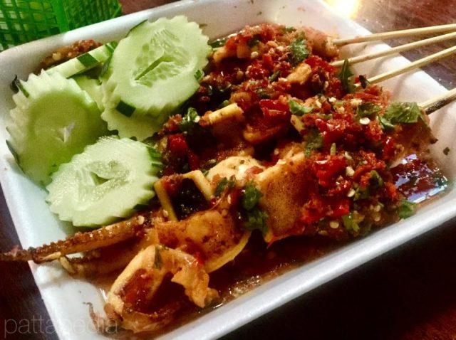 タイ料理-プラームックヤーンラートナムチムシーフード