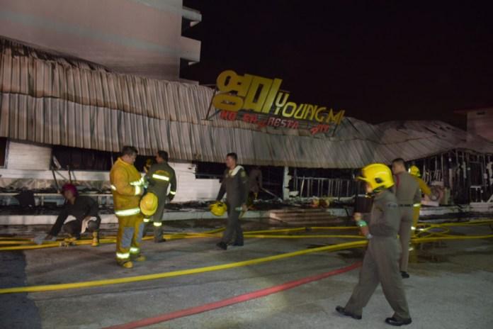 Pattaya fire Korean restaurant Fire strikes Korean