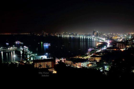 Ночная Паттайя со смотровой площадки, 25 ноября 2016