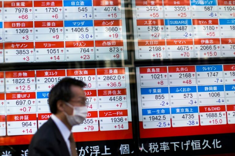 Asian stocks slip despite US, EU plan to ease trade tensions