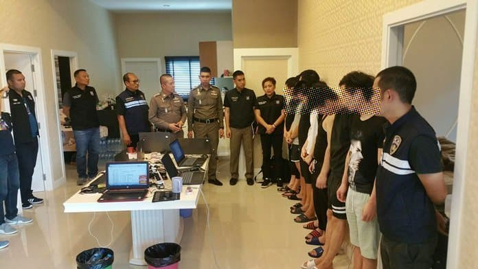 12 Chinese arrested for online loan-sharking in Huay Yai