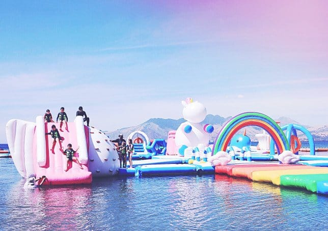 Cancel all your holiday plans – there's an inflatable unicorn island