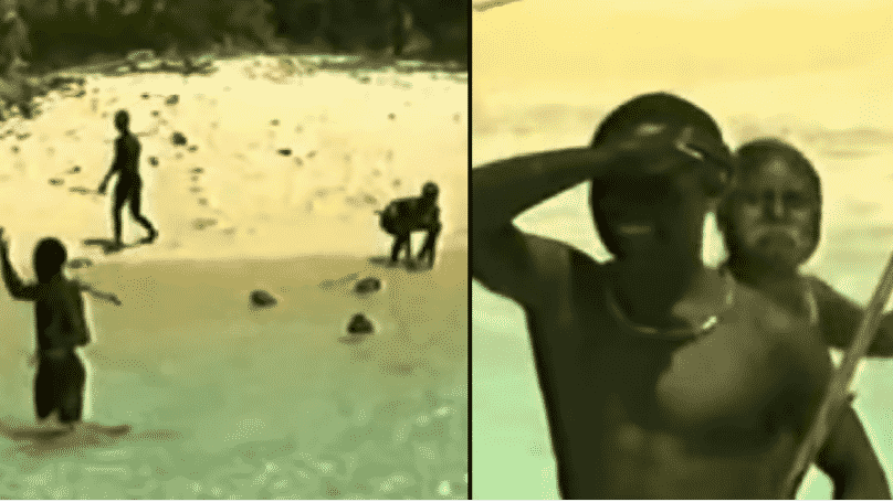 Rare Footage Shows How Isolated Sentinelese Tribe React To Contact From Outsiders