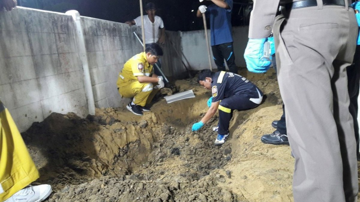 Bangkok man sought after wife's body found buried