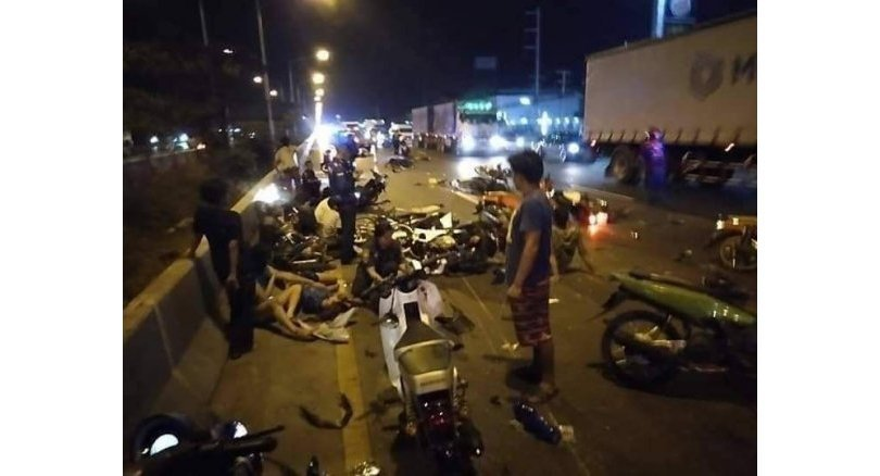 Illegal bike race turns deadly in Samut Sakhon
