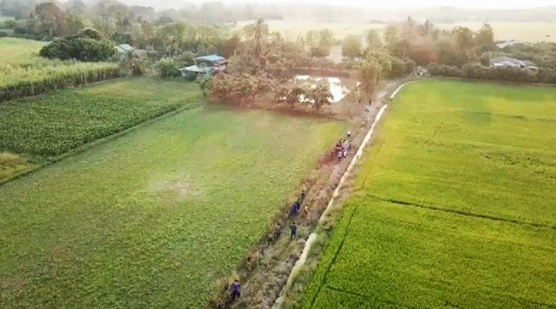 Thai police are using Drones to catch suspect on the run.