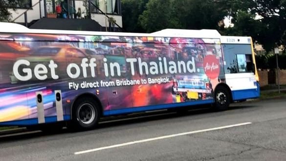 "Air Asia apologises for its ""Get off in Thailand"" promotion. AirAsia has now apologised following an advertising campaign using the phrase ""Get off in"