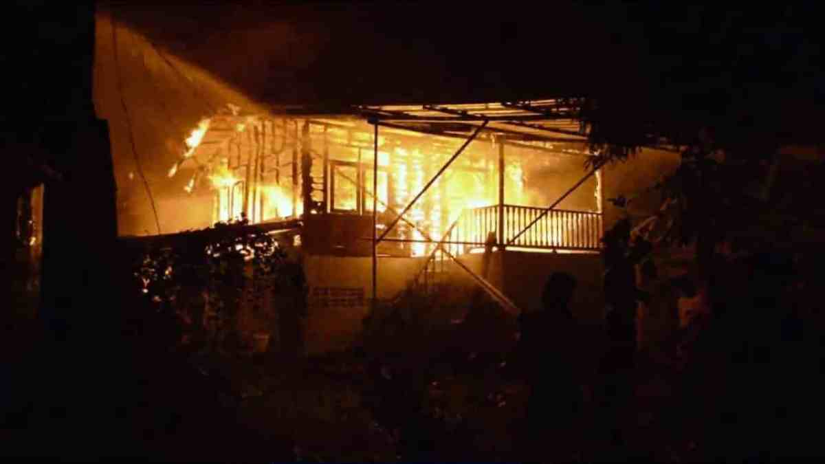 Mentally ill man sets four houses on fire