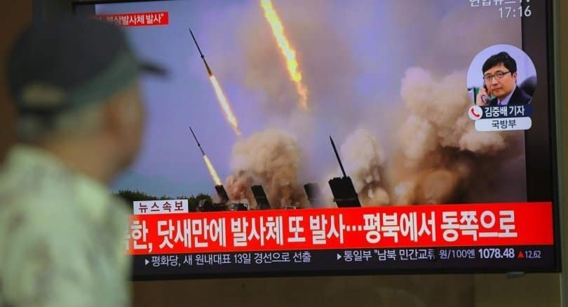 North Korea appears to have fired two missiles