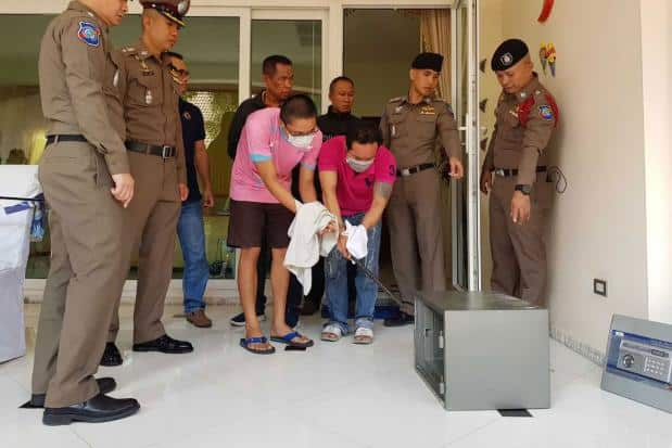 Robbery at Irishman's luxury Pattaya home, arrests made