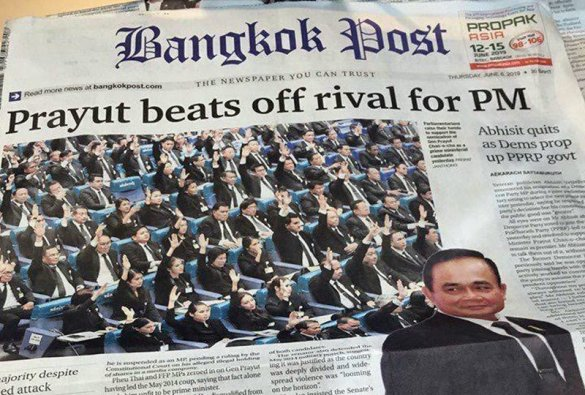 Bangkok Post stakes claim for HEADLINE OF THE YEAR. The Bangkok Post staked their claim for HEADLINE OF THE YEAR whilst reporting the Thai Junta.