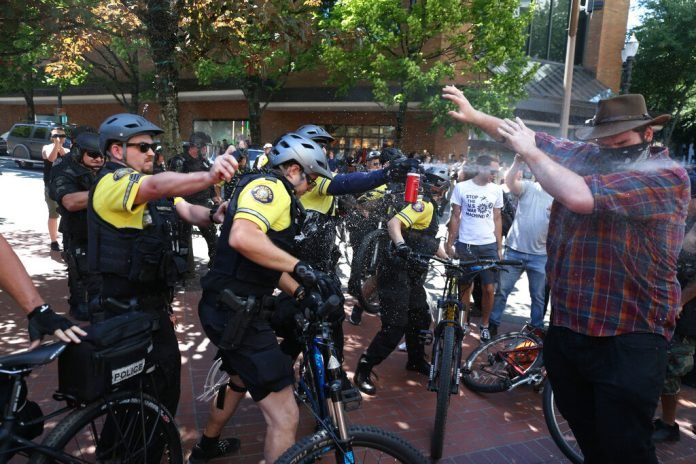 Antifa Clashes With Far Right in Portland; 3 Arrested