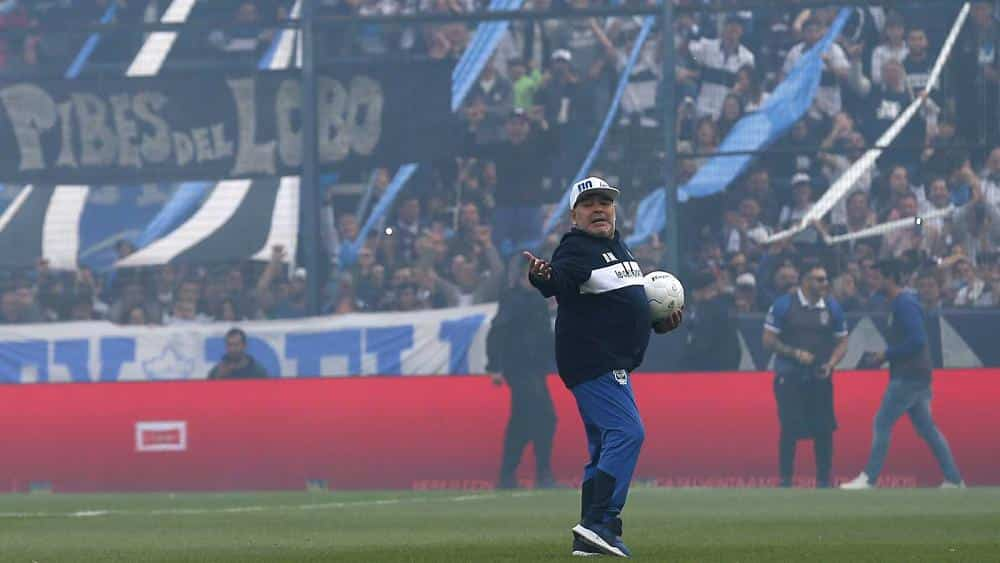 Argentina's football legend Diego Maradona makes comeback as new coach of La Plata's Gimnasia club