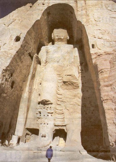 The Buddhas of Bamiyan in 1970. Photo: David Shaw / Courtesy