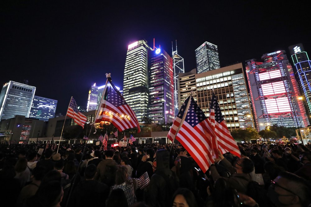China Mad, Hong Kong Celebrates After US Move on Bills