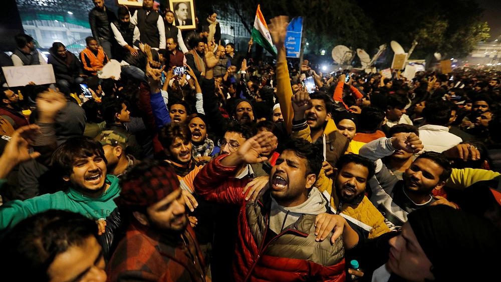 Dozens injured in India as activists clash with police in citizenship law protests