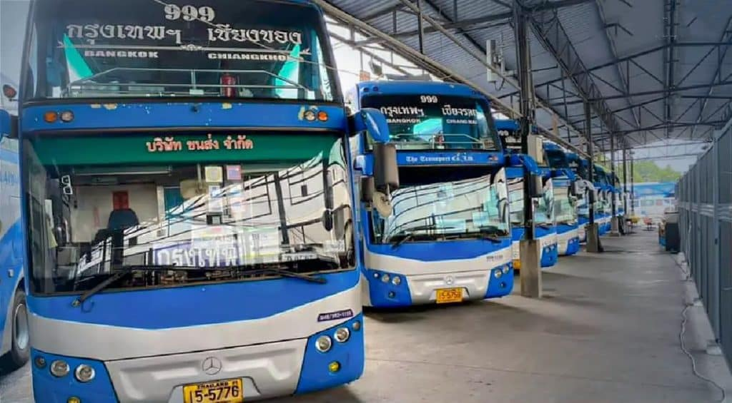 The Thai bus company Transport Co suspends all interprovincial bus services
