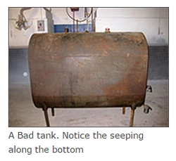 A Bad tank. Notice the seeping along the bottom.
