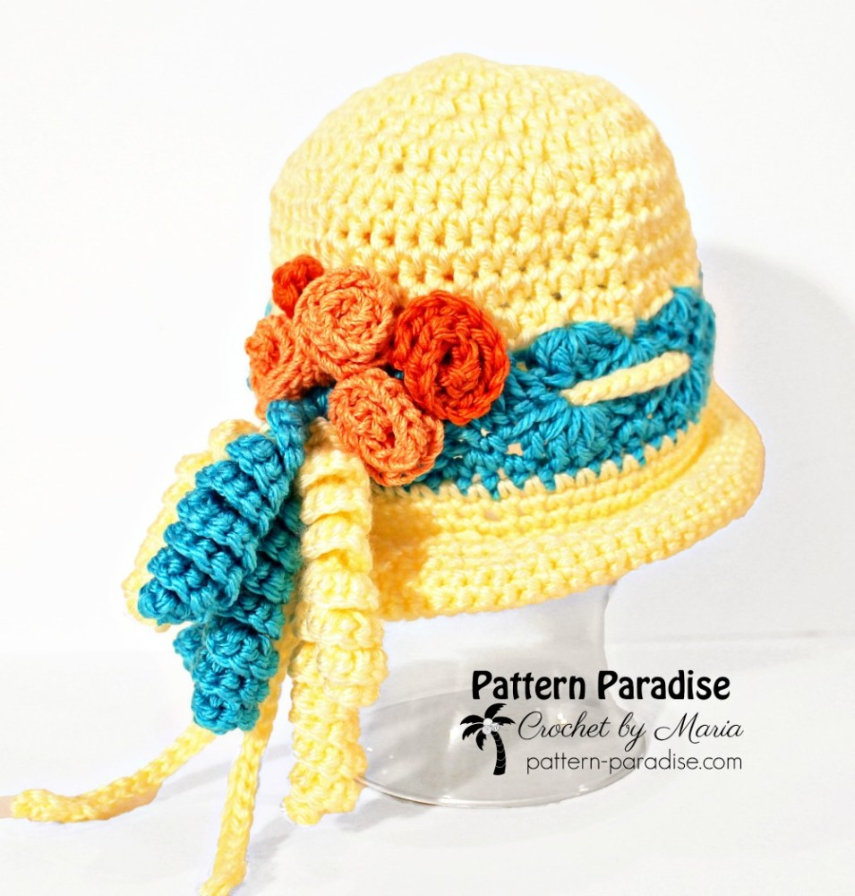Free Crochet Pattern Spring Fling Beanie on Pattern-Paradise.com