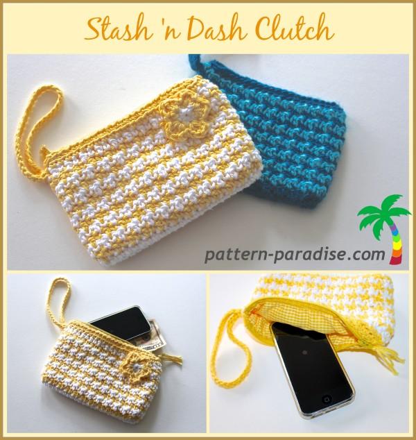 FREE Crochet Pattern - Stash \'n Dash Clutch   Pattern Paradise