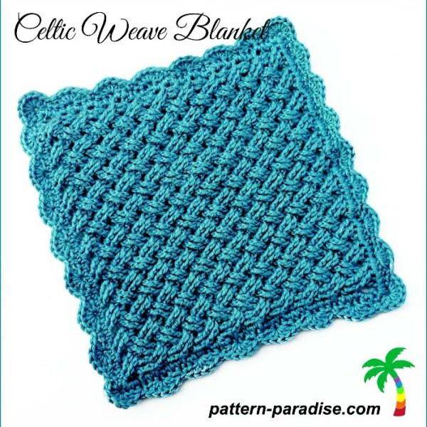 FREE Crochet Pattern – Celtic Weave Blanket