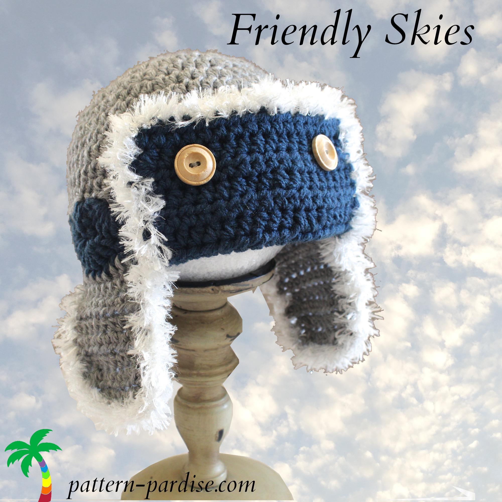 FREE Crochet Pattern - Friendly Skies Hat! | Pattern Paradise