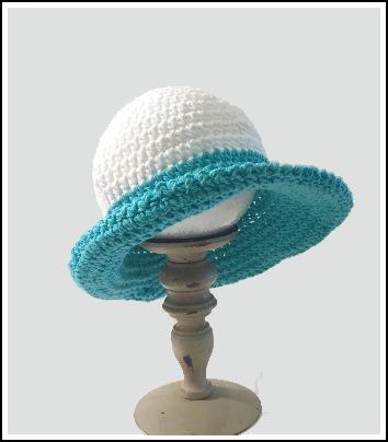 turquoise hat