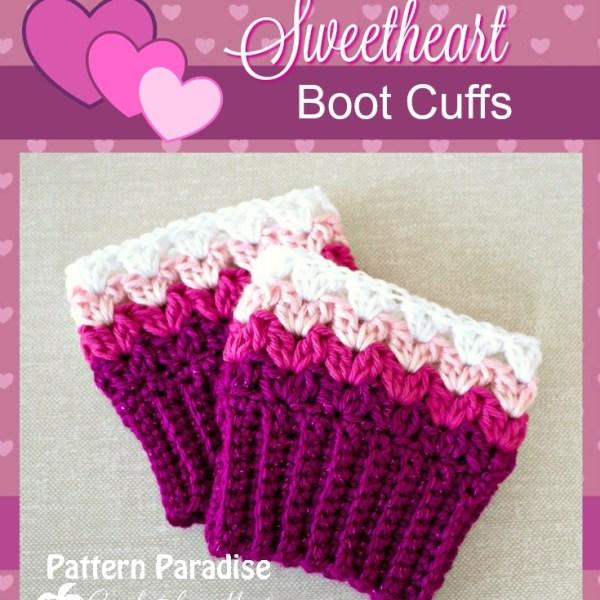 FREE Crochet Pattern – Sweetheart Boot Cuffs
