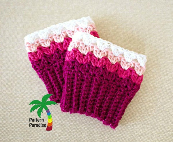 Sweetheart Cuffs at pattern-paradise.com