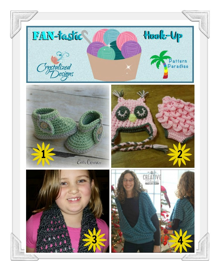 FAN-tastic Hook-Up Crochet Link Party by Pattern Paradise & Crystalized Designs #crochet #linkparty