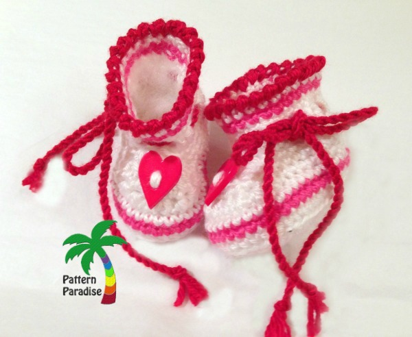 Hearts of Love Booties by Pattern Paradise