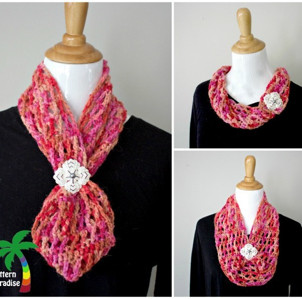 Free Crochet Pattern-X Stitch Challenge, Hugs & Kisses Cowl