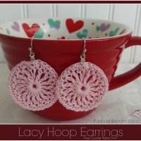 Pink-Lacy-Hoop-Earrings-by Purple Poncho