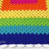 Rainbow Granny Blanket by Charmed By Ewe