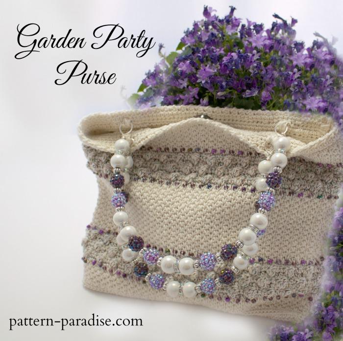 Crochet Pattern for Garden Party Purse by Pattern-Paradise