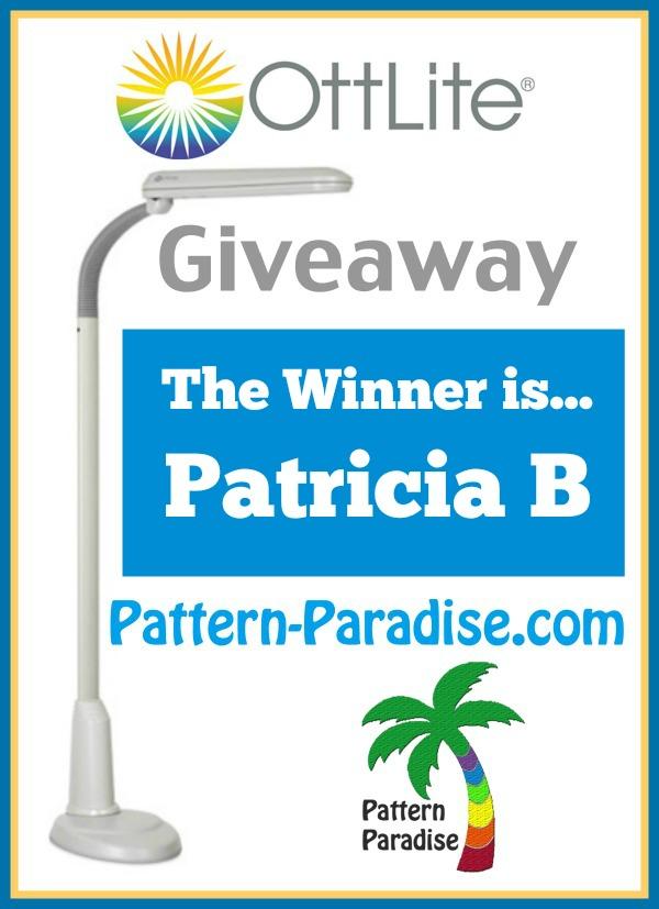 Ottlite Giveaway Winner  by Pattern-Paradise