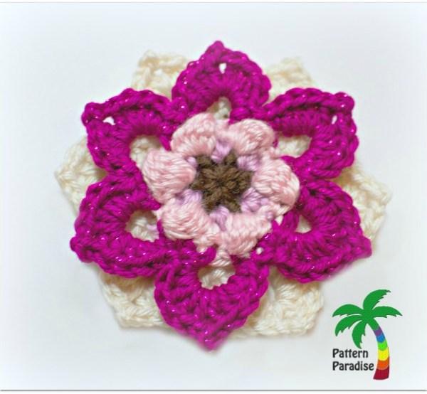 Free Crochet Pattern-Fancy Flower