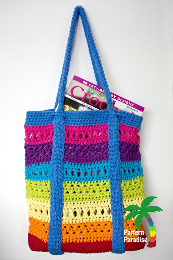 Free Crochet Pattern X Stitch Challenge Market Bag Pattern Paradise