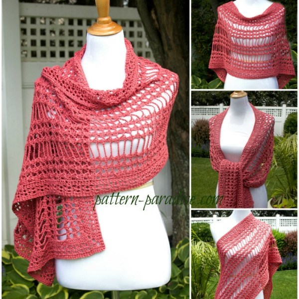 Free Crochet Pattern-X Stitch Challenge, Summer Wrap