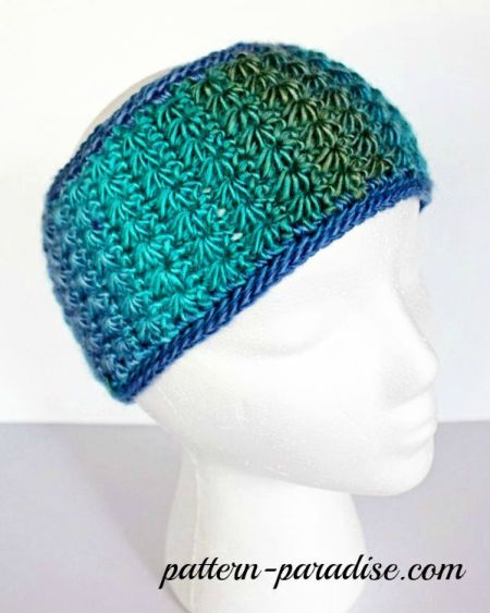 Star Stitch Headband by Pattern-Paradise.com