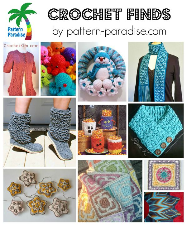 Crochet Finds on Pattern-Paradise.com 9-21-15