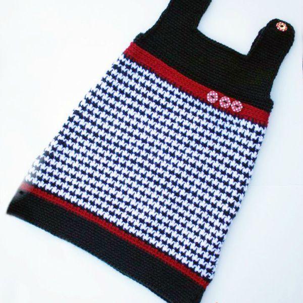 Crochet Pattern: Houndstooth Jumper