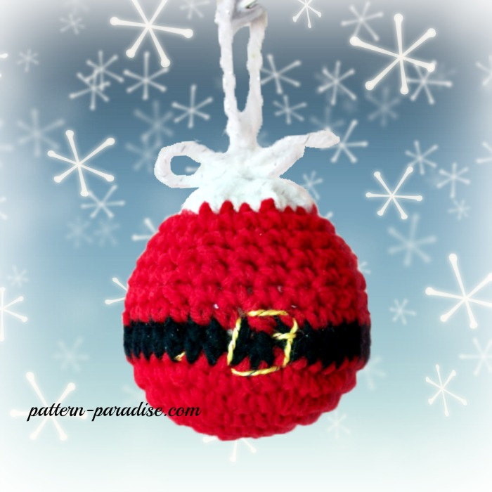 Free Crochet Pattern Christmas Tree Ornaments Pattern Paradise