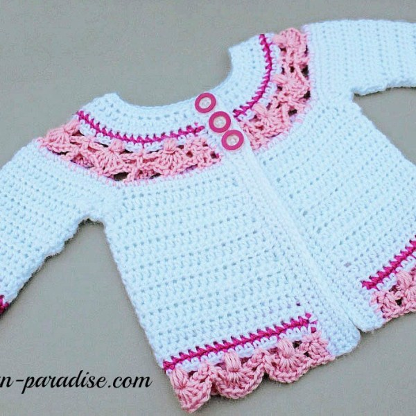 Crochet Pattern: Jasmine Baby Sweater